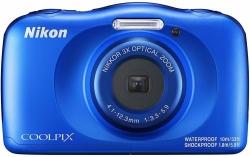 Фотоаппарат Nikon CoolPix W150 синий 13.2Mpix Zoom3x 2.7 1080p 21Mb SDXC CMOS 1x3.1 5minF HDMI/KPr/DPr/WPr/FPr/WiFi/EN-EL19