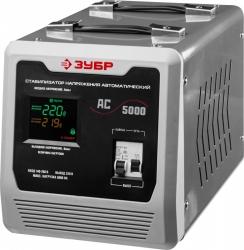 Стабилизатор напряжения Зубр АС 5000 электронный однофазный серый