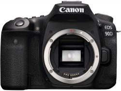 Зеркальный Фотоаппарат Canon EOS 90D черный 32.5Mpix 3 1080p 4K SDXC Li-ion (без объектива)