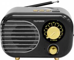 Радиоприемник настольный Telefunken TF-1682UB черный/золотисты