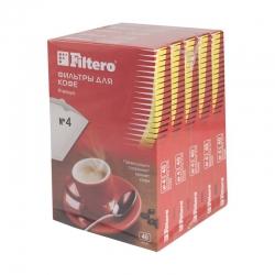 Фильтры для кофе для кофеварок Filtero №4 белый 1х4 (упак.:200шт)