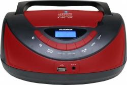Аудиомагнитола Telefunken TF-CSRP3497B черный/красный