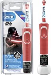 Зубная щетка электрическая Oral-B Kids Starwars красный/белый