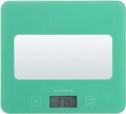 Весы кухонные электронные Supra BSS-4201N бирюзовый