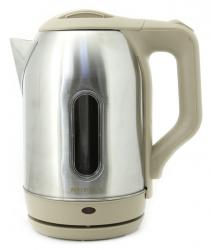 Чайник электрический Supra KES-2202SW нержавеющая сталь/бежевый