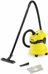 Строительный пылесос Karcher WD 2 1000Вт (уборка: сухая/сбор воды) желтый