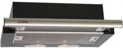 Вытяжка встраиваемая Elikor Интегра 50П-400-В2Л черный/нержавеющая сталь управление: кнопочное (1 мотор)