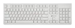 Клавиатура Oklick 505M белый USB slim