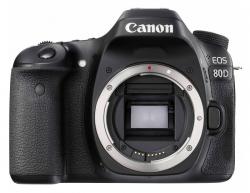 Зеркальный Фотоаппарат Canon EOS 80D черный 24.2Mpix 3 1080p Full HD SDXC Li-ion (без объектива)