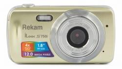 Фотоаппарат Rekam iLook S750i золотистый 12Mpix 1.8 SD/MMC CMOS/AAA