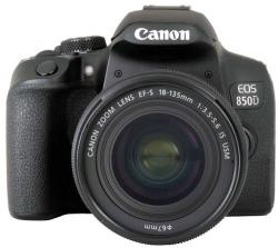 Зеркальный Фотоаппарат Canon EOS 850D черный 24.1Mpix EF-S 18-135mm f/4-5.6 IS STM 3 4K 4K SDXC Li-ion